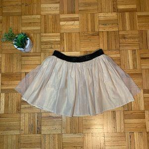 Super Cute Gold Sparkly Girls Dance Skirt Joe